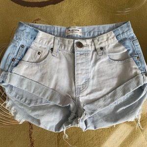 One Teaspoon two toned bandit shorts